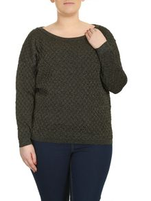 Plus Size Embellished Quilted Pullover