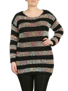 Colourful Bobble Knit Jumper