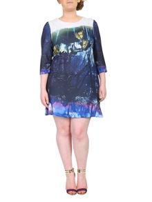 Plus Size Botanical Butterfly Dress