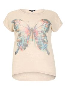 Plus Size Single Butterfly Print Top