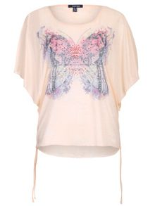 Plus Size Diamante Butterfly Top