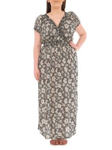 Samya Plus Size Floral Print Maxi Dress