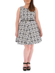 Samya Plus Size Baroque Print Dress