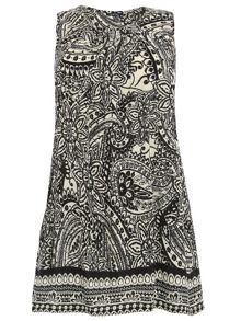 Samya Plus Size Eastern Paisley Print Dress
