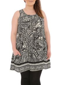 Plus Size Eastern Paisley Print Dress