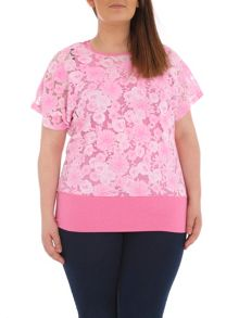 Samya Plus Size Floral Layered Top
