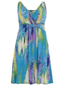 Plus Size Abstract Midi Dress
