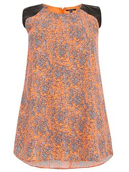 Plus Size Ditzy Print Shift Dress