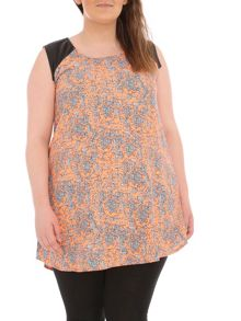 Samya Plus Size Ditzy Print Shift Dress