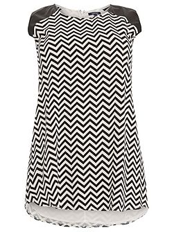 Plus Size Chevron Shift Dress