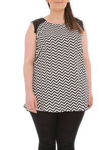 Samya Plus Size Chevron Shift Dress