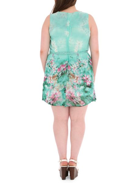 Samya Plus Size Eastern Print Shift Dress