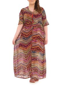 Plus Size 90s Style Buttoned Maxi Dress