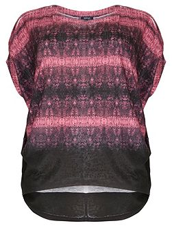 Samya Plus Size Tie Dye Embellished Top