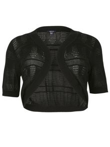 Plus Size Cropped Bolero Cardigan