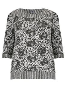 Plus Size Floral Multi-Print Top
