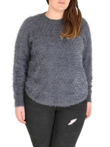 Samya Long Sleeve Plain Knitwear Pullover