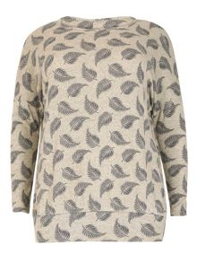 Samya Oversized Leaves Printed Top