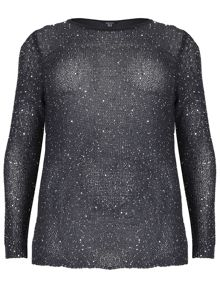 Plus Size Sequin Embellished Top