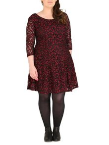 Samya Paisley Lace Skater Dress