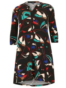 Samya Long Sleeve Printed Dress