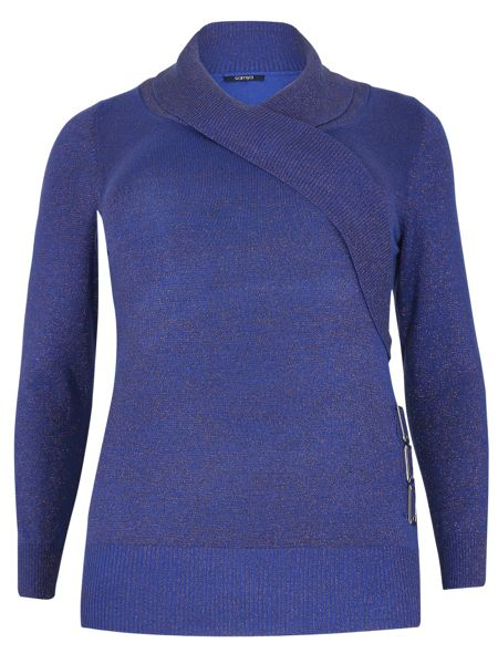 Samya Plus Size Wrap Front Knitted Top
