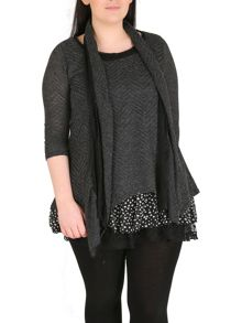 Plus Size Polka Dot Layered Top