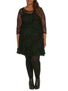 Layered Floral Lace Dress
