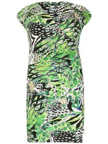 Samya Plus Size Print Wrap Dress