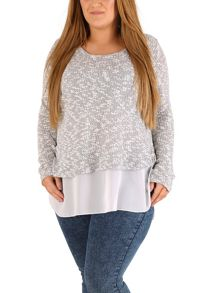 Samya Plus Size Knit Shirttail Top