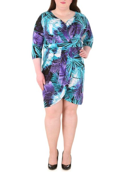Samya Patterned Wrap Dress
