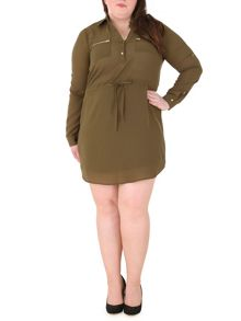 Samya Plus Size Shirt Dress