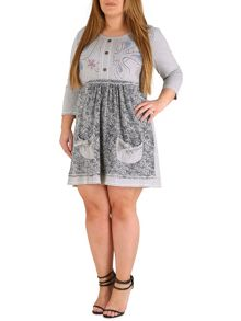 Samya Plus Size Floral Embroidered Dress