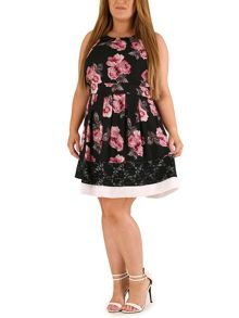 Samya Plus Size Floral Lace Dress
