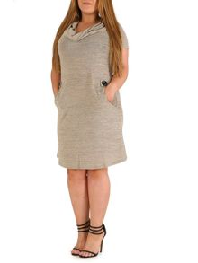Samya Plus Size Roll Neck Dress