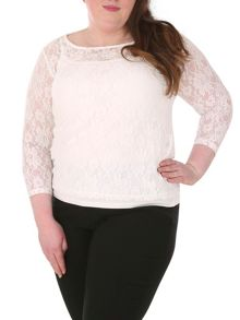 Samya Lace Long Sleeve Top