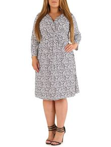 Samya Plus Size Crossover Dress