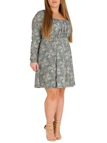 Samya Plus Size Gathered Empire Line Dress