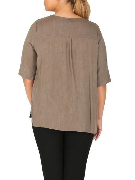 Samya Plus Size Top with Buttoned Detail