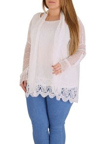 Samya Plus Size Textured Net Top