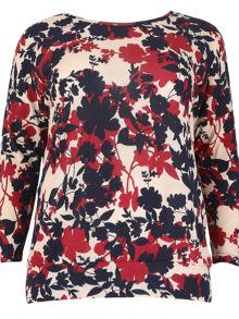 Samya Plus Size Knit Floral Top