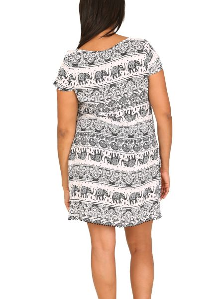 Samya Plus Size Batik Elephant Tunic Dress