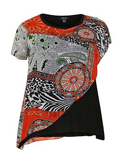 Plus Size Eastern Print Top