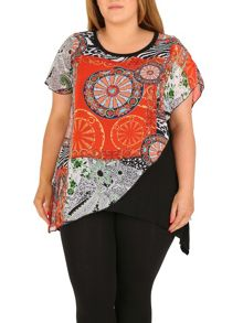 Samya Plus Size Eastern Print Top
