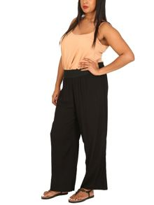 Samya Plus Size High Waisted Wide Leg Trousers