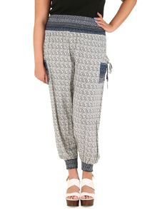 Samya Plus Size Contrast Pocket Harem Trousers