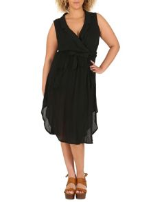 Samya Plus Size Crinkle Wrap Dress