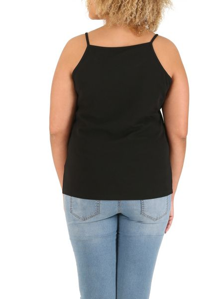 Samya Plus Size Textured Vest Top