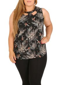 Samya Plus Size Floral Detail Top