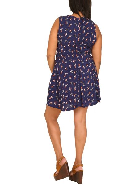 Samya Plus Size Hummingbird Fit & Flare Dress